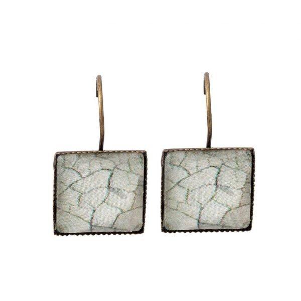 Τετράγωνα σκουλαρίκια Stoneglass