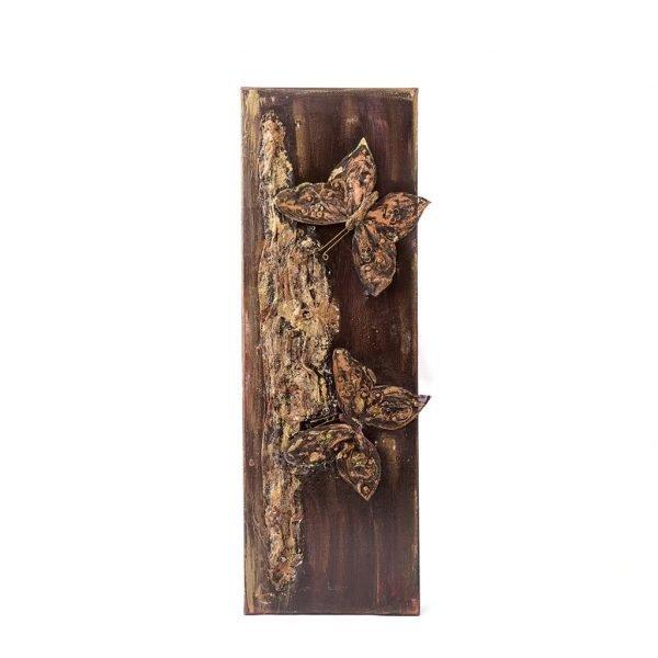 Καμβάς με χειροποίητες πεταλούδες