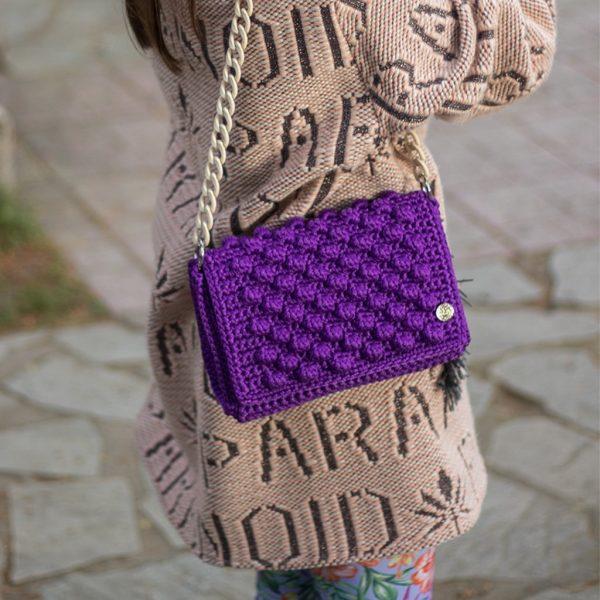 Ashley Μοβ τσάντα ώμου
