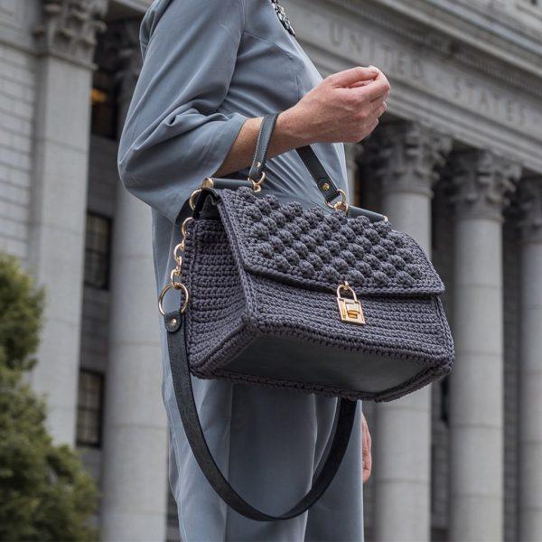 """Tribeca"" πλεκτή τσάντα ώμου/χιαστί"