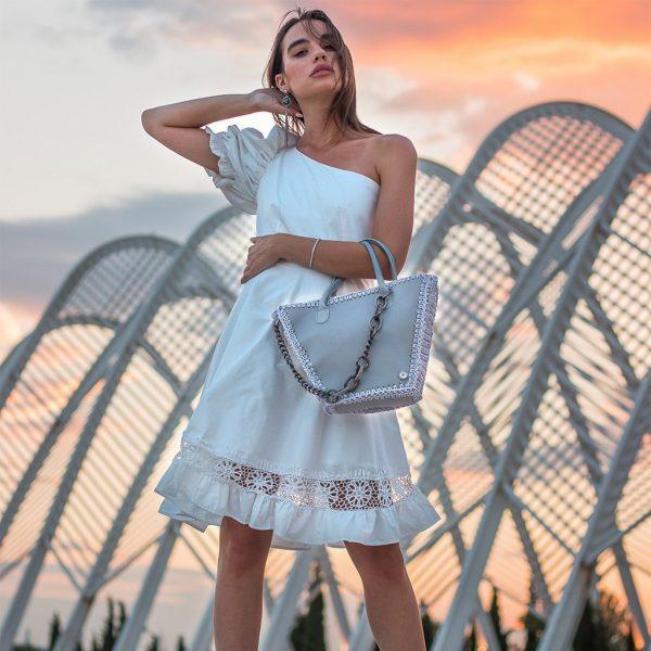 """""""Artemis"""" Ice Grey Tote τσάντα"""