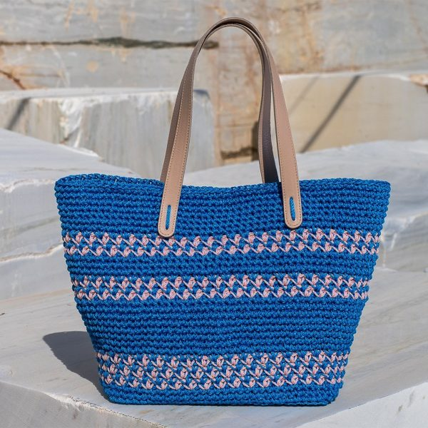 Delphine Royal Blue τσάντα ωμού