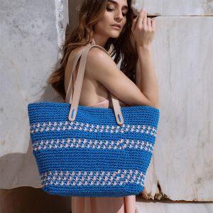Delphine Royal Blue τσάντα ώμου