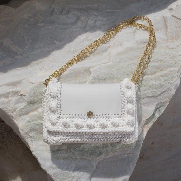 """Lydia"" λευκή τσάντα ώμου"