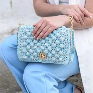 """Monaco"" Baby Blue τσάντα ώμου"