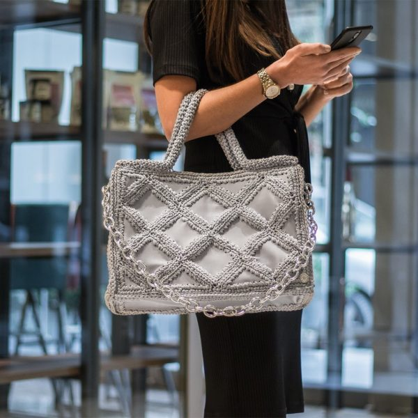 Sylvia Ice Grey Tote τσάντα