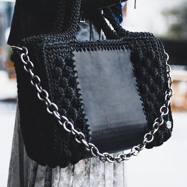 """Ophelia"" τσάντα tote (μαύρο)"