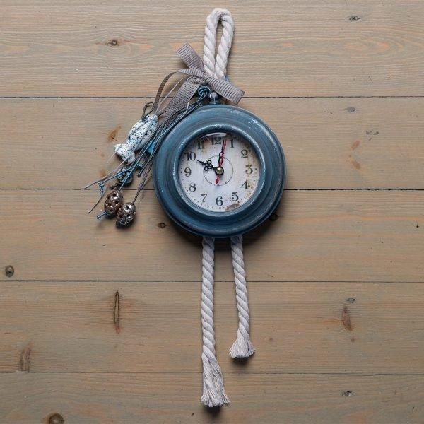Ρολόι τοίχου Alice (γκρι-μπλε)