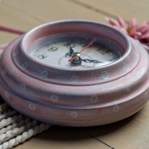 Ρολόι τοίχου Alice (ροζ πουά)
