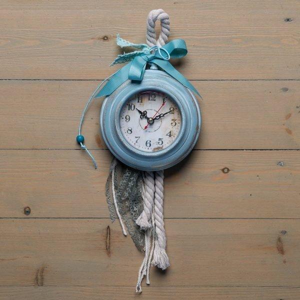 Ρολόι τοίχου Alice (γαλάζιο-χρυσό)