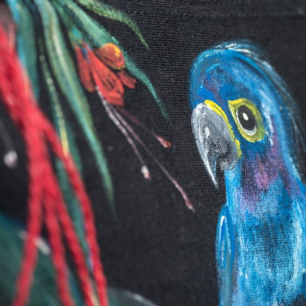 Υφασμάτινη τσάντα ζωγραφιστή (παπαγάλος)
