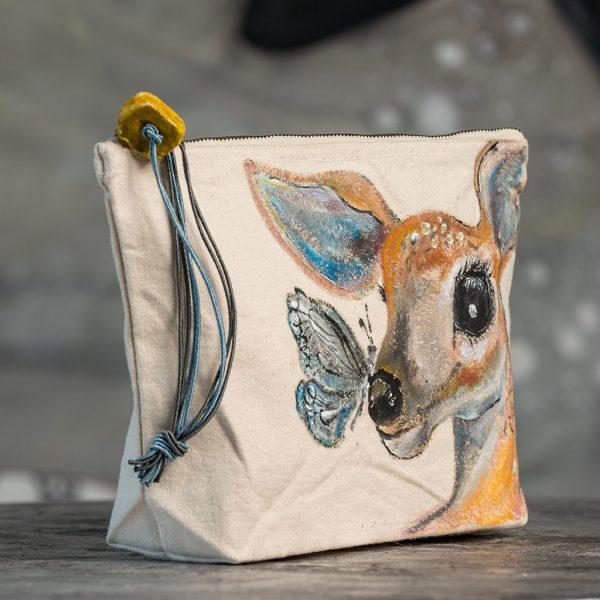 Υφασμάτινη τσάντα ζωγραφιστή (lovely deer)