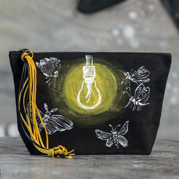 Τσάντα υφασμάτινη ζωγραφιστή (φως)