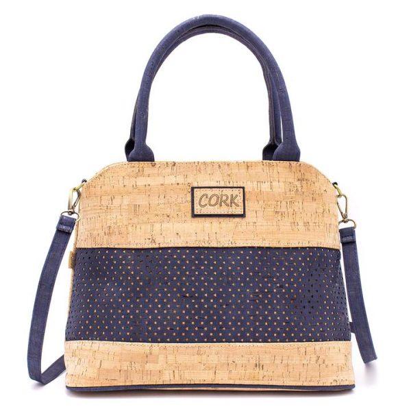 Tσάντα ώμου από φελλό (μπλε)