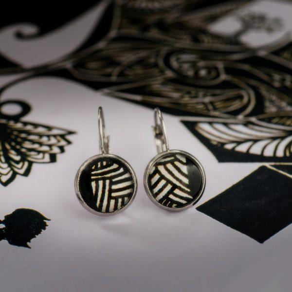 Σκουλαρίκια Black & White Stripes