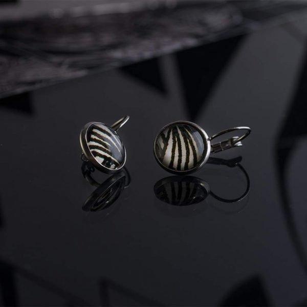 Σκουλαρίκια Zebra