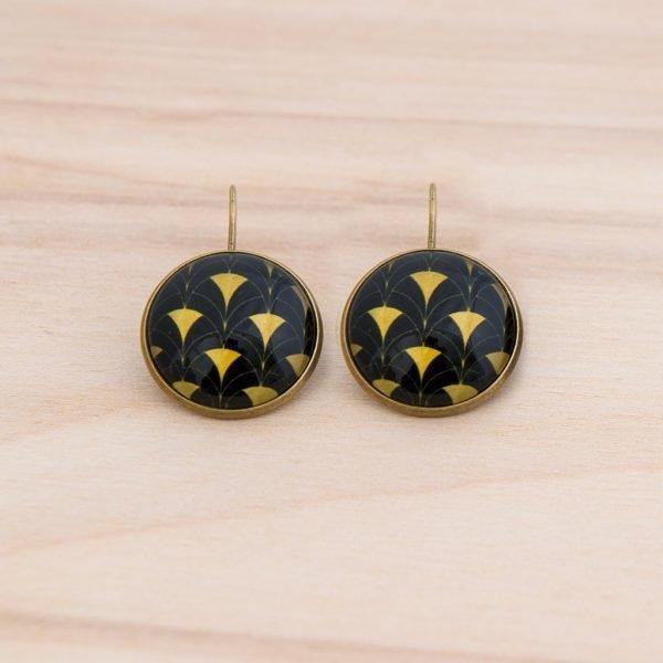 Σκουλαρίκια Black & Gold