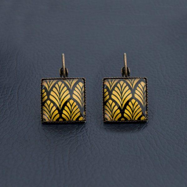 Τετράγωνα σκουλαρίκια Yellow Leaves