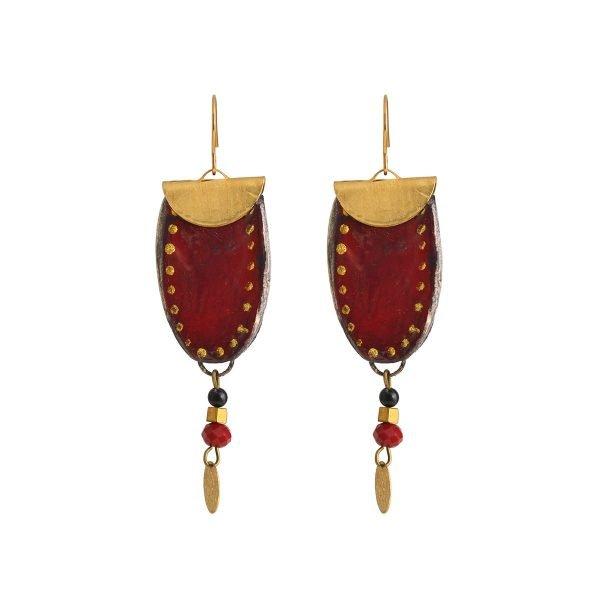 Πήλινα σκουλαρίκια Red Petal