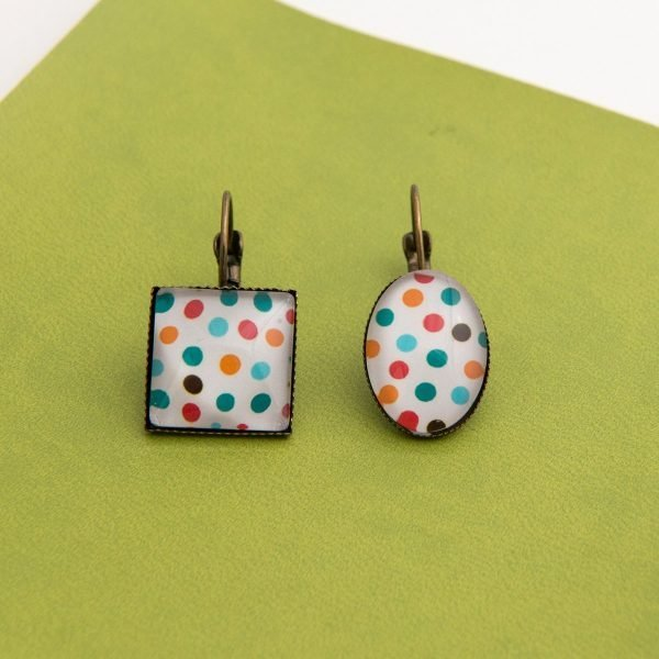 κρεμαστά σκουλαρίκια Coloured Dots