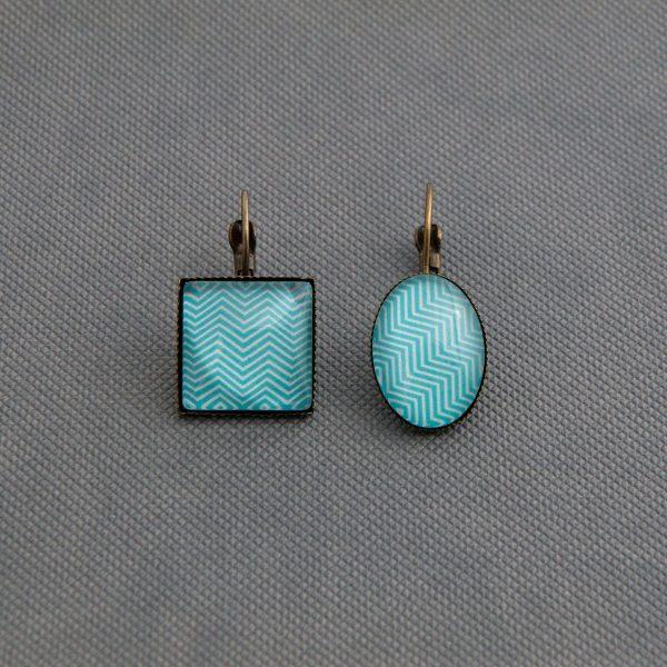Κρεμαστά σκουλαρίκια Blue Wave (τετράγωνα ή οβάλ)