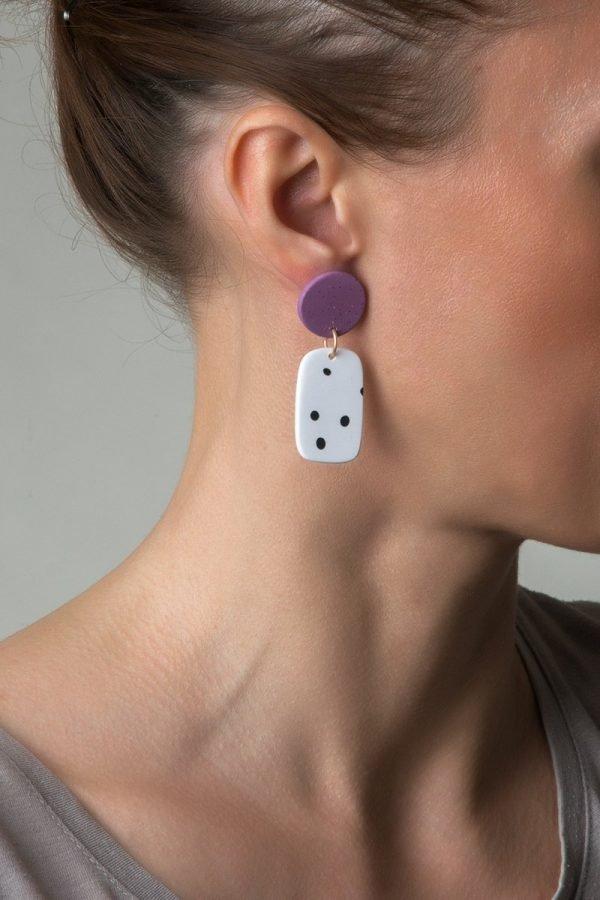 Μοντέρνα σκουλαρίκια Zoe