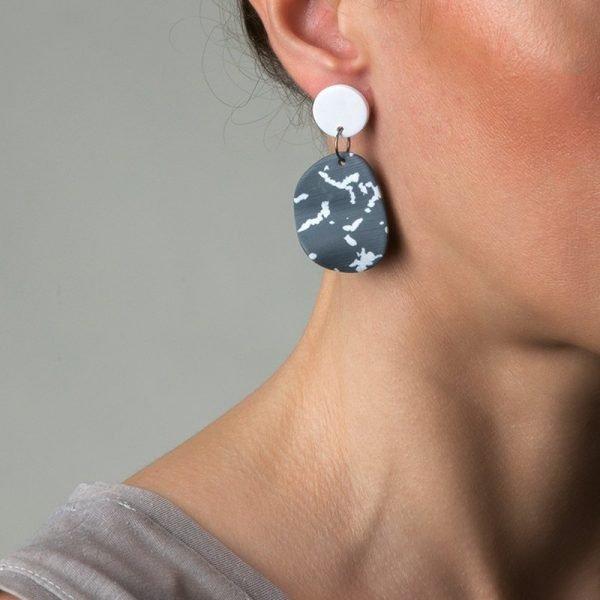 Olivia κυματιστά σκουλαρίκια