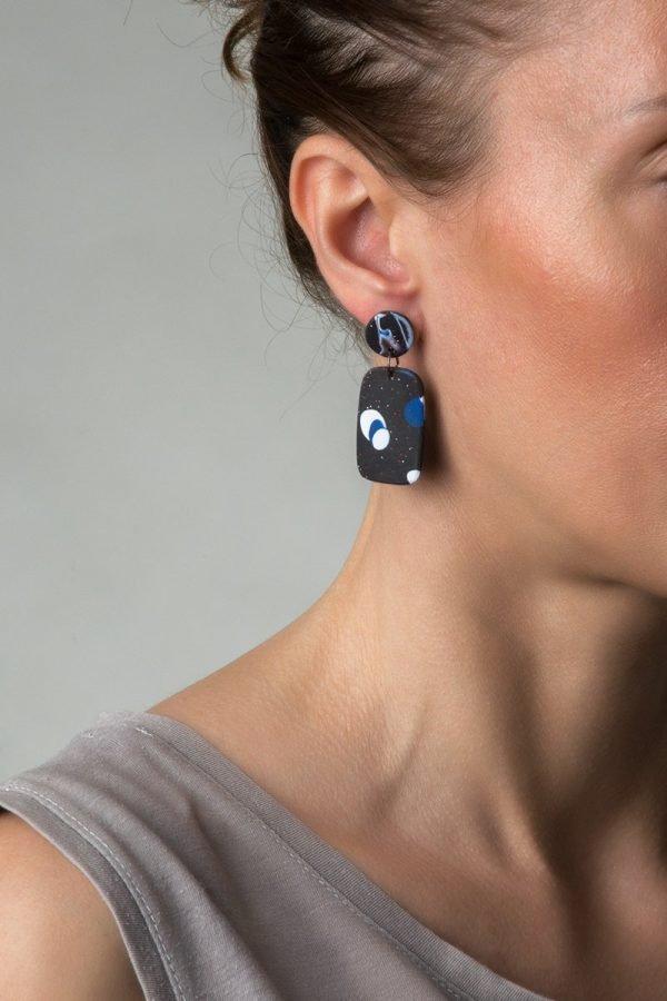Nefeli κρεμαστά σκουλαρίκια