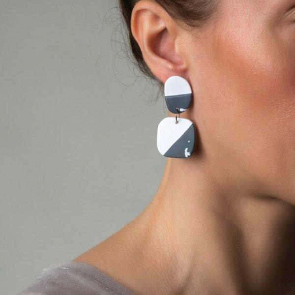 Olivia τετράγωνα σκουλαρίκια