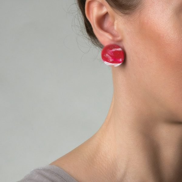 InRed στρογγυλά σκουλαρίκια