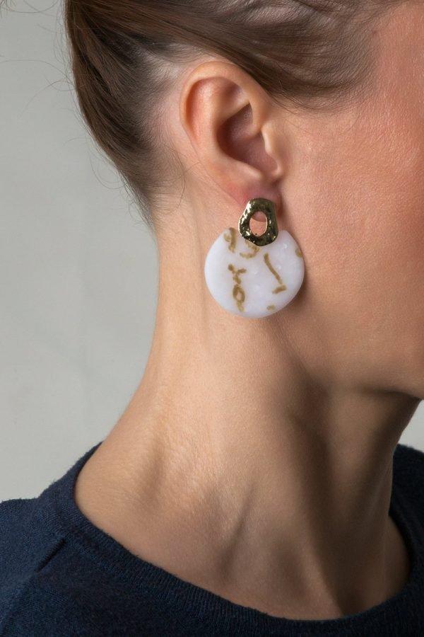 Afrodite στρογγυλό σκουλαρίκι