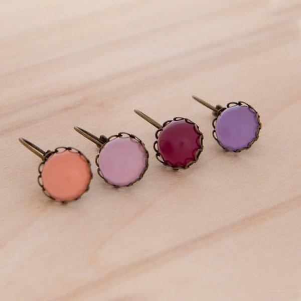 Vintage δαντελωτά σκουλαρίκια
