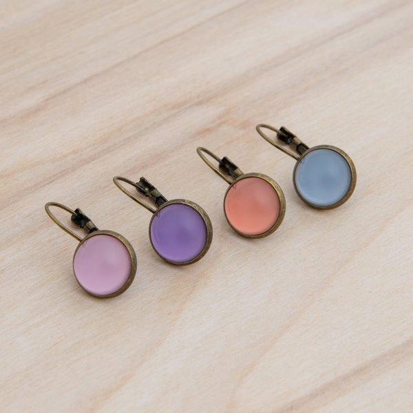 Vintage χρωματιστά σκουλαρίκια