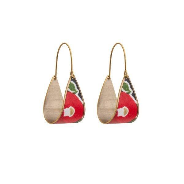 """Σκουλαρίκια Chiyogami """"Flower Swing"""""""