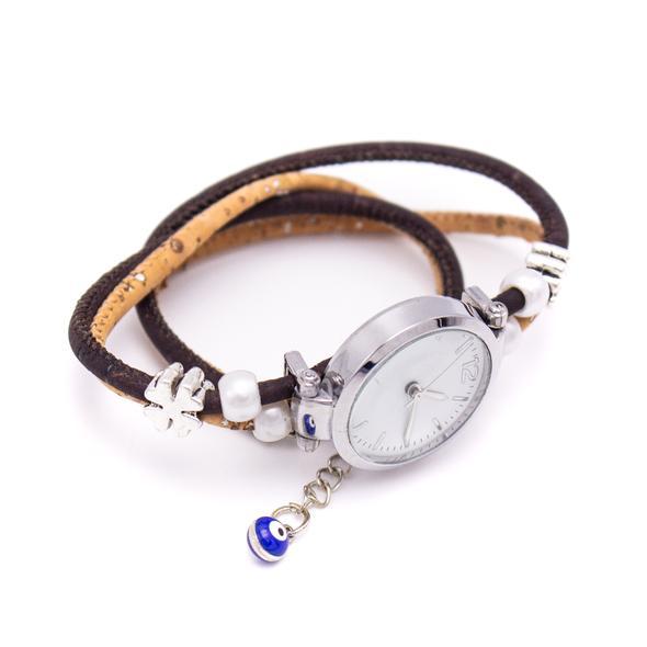 Ρολόι Βραχιόλι φυσικός φελλός Positivity