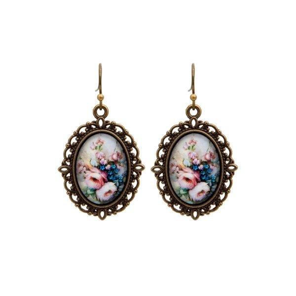 Vintage σκουλαρίκια Roses