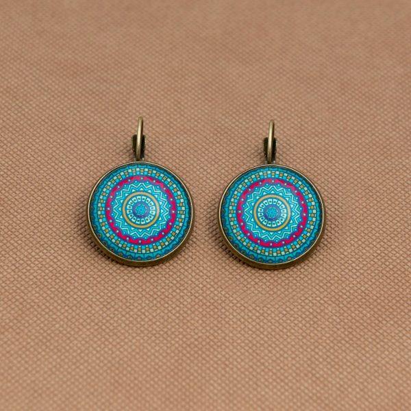 Σκουλαρίκια Mandala Blue