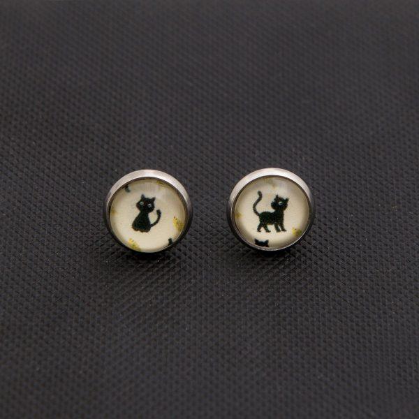 Καρφωτά σκουλαρίκια Cats