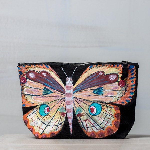 Υφασμάτινη ζωγραφιστή τσάντα Πεταλούδα