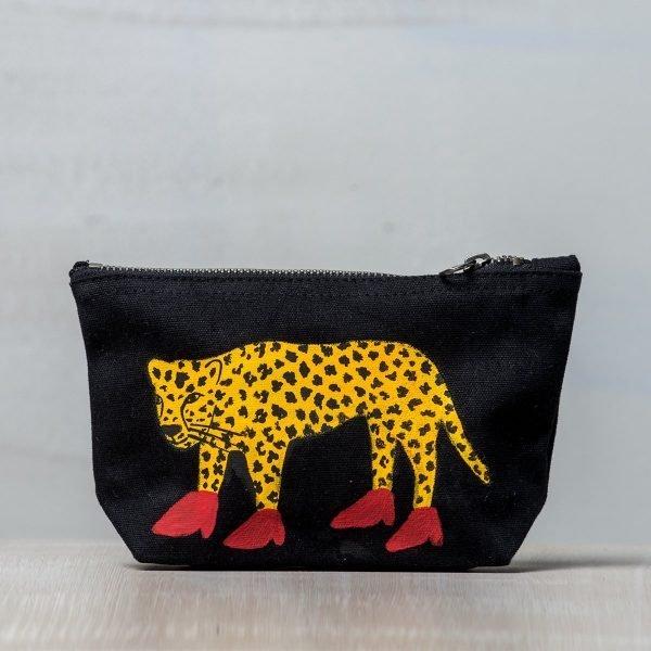 Υφασμάτινη ζωγραφιστή τσάντα Παπουτσωμένη Τίγρης