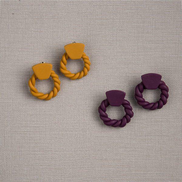 Πήλινα σκουλαρίκια Twisted